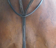 "PreCara Martingal ""White Décor"" Pony braun-silber"