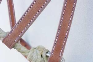 "Sidepull ""Rope"" braun"