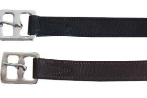 Softleder-Steigbügelriemen mit Nyloneinlage schwarz 140 cm