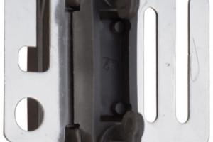 Tor-/Bandisolator mit Niroplatte (40mm schwarz) 4 Stk.