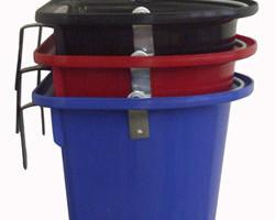 Transportfuttereimer mit Haken und Bügel blau