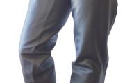 Western-Chaps Glattleder XL braun