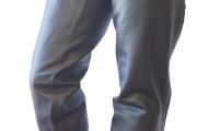Western-Chaps Glattleder XL schwarz