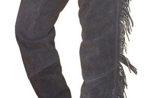 Western-Chaps Wildleder mit Fransen XL schwarz
