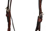 Westernzaum gerades Stirnband Lederverzierungen